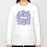 french Long Sleeve T-shirts featuring Pardon My French  by Cat Coquillette