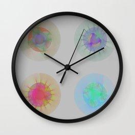 Orbital Mandalas 2x2 Array #1 Astronomy Print Wall Art Wall Clock