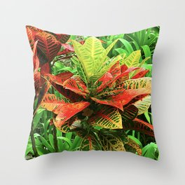 Exotic Tropical Jungle Plant From Maui, Hawaii Throw Pillow