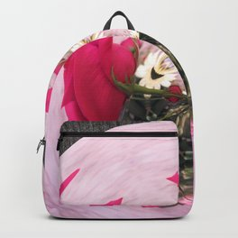 Pink/Gray Rose Abstract Backpack