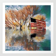 And to the Republic for Which It Stands Art Print