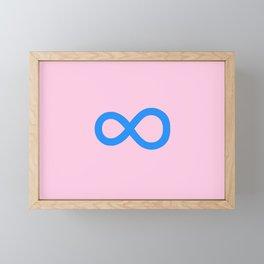 symbol of infinity 1 Framed Mini Art Print