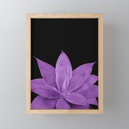 Purple Agave #1 #tropical #decor #art #society6 Framed Mini Art Print