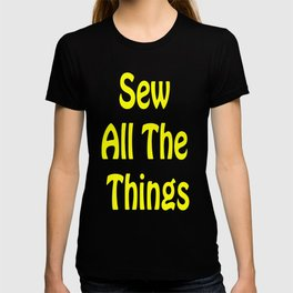 Sew All the Things in Yellow T-shirt