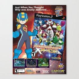 MegaMan 2 Promo Poster Canvas Print