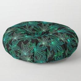 Cannabis Leaf (Black Glow) - Frost Floor Pillow