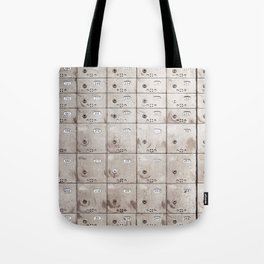 Chests with numbers Tote Bag