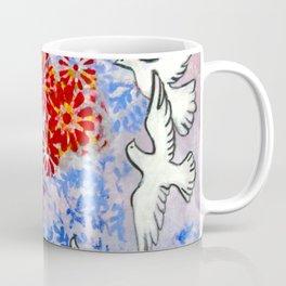 Floral Doves  #society6 #decor #buyart Coffee Mug