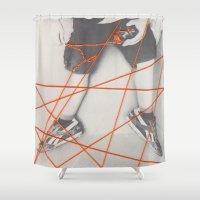 boy Shower Curtains featuring Boy by La Rubia Fotografia