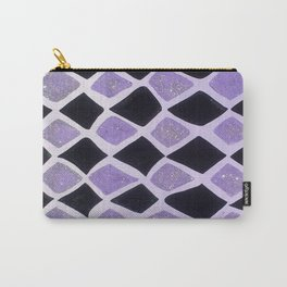 Purple and Black Diamonds Carry-All Pouch