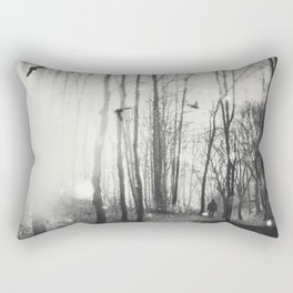 White Lights in the Forest Rectangular Pillow
