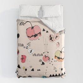 Poppies Print Duvet Cover