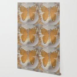Golden Butterfly with Diamonds Wallpaper