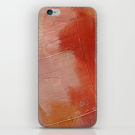Desert Journey [1]: a textured, abstract piece in pinks, reds, and white by Alyssa Hamilton Art iPhone Skin