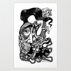 Fluid Rudy Art Print