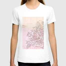Rose Word Map Europe T-shirt