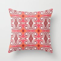 spice Throw Pillows featuring Marrakech Spice by ALLY COXON