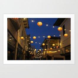 Chinatown Lanterns in L.A. Art Print