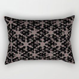 Snow flake of Ruby and Gold Rectangular Pillow