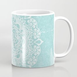 Mandala on concrete - teal Coffee Mug