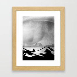 Black Space Song Framed Art Print