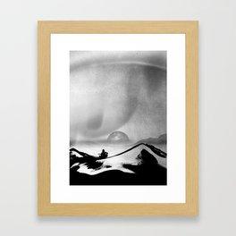 Black Space Song Framed Art Print