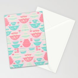 Pink and Turquoise Everything Stationery Cards