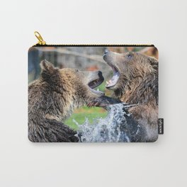 Sparring Grizzly Bears Carry-All Pouch