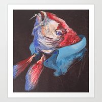 Fish Wearing Linen Art Print