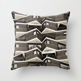 Balconies Pattern Throw Pillow