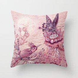 Tuscan Red Moondance Throw Pillow
