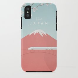 Vintage Japan Travel Poster iPhone Case