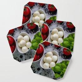 Trio of tomatoes basil fresh mozzarella Coaster