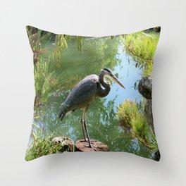 Japanese Garden Surprise Throw Pillow
