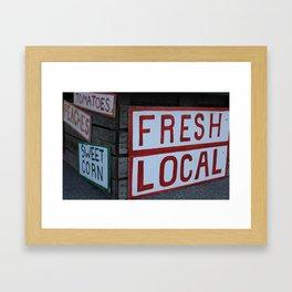Eat Local Framed Art Print