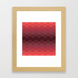 Red Honeycomb Framed Art Print