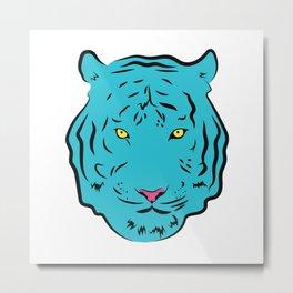 Blue Tiger Metal Print