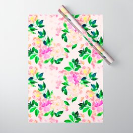 Watercolor spring floral pattern Wrapping Paper