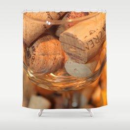 Glass Half Full Shower Curtain