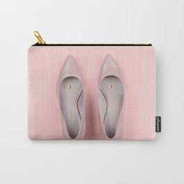 Pair of classic women's beige shoes with pushpin Carry-All Pouch