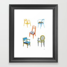 Chairs number 3 Framed Art Print