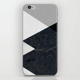 Geometrics - marble & silver iPhone Skin