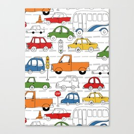 Busy Traffic Pattern Canvas Print