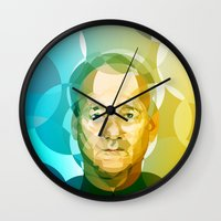 bill Wall Clocks featuring Bill by Tom Johnson