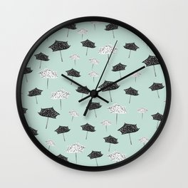Umbrellas. Wall Clock