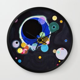 Kandinsky Several Circles, 1926 Artwork Reproduction, Design for Posters, Prints, Tshirts, Men, Women, Kids, Youth Wall Clock