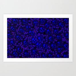 night of the dots Art Print