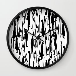 NO HUMAN,NO CAOS Wall Clock