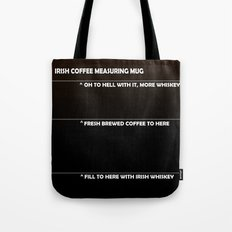 Irish Coffee Measuring Mug Tote Bag