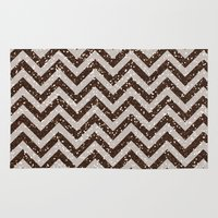 bisexual Area & Throw Rugs featuring Sparkling glitter chevron pattern - coffee IV by Better HOME